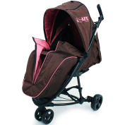 iSafe Visual 3 Raspberry Cake Three Wheeler Stroller from Birth with Tablet Smart Phone Media Pocket