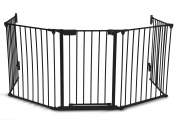 Kenley Fireguard Fire Fireplace Hearth Guard Screen - Child & Baby Safety Gate with Door