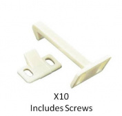 10 x Child Safety Catch Child Lock Cupboard Door Drawer Lock Catches + Screws