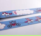Infoband Wrist Band for Kids - Unicorns - Light Blue