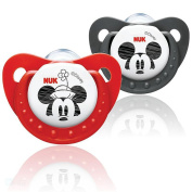 NUK Disney Mickey & Minnie Mouse Orthodontic Soother Twin Pack - 6-18m