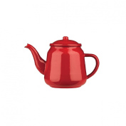 PREMIER HOUSEWARES 900ML RED ENAMEL HERBAL TEAPOT STOVETOP KETTLE TABLEWARE NEW