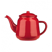 PREMIER HOUSEWARES 2200ML RED ENAMEL HERBAL TEAPOT STOVETOP KETTLE TABLEWARE NEW