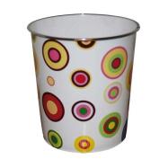 JVL 25 x 26.5 cm Fun Circles Pattern Plastic Waste Paper Bin