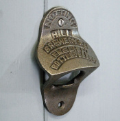 Wall mounted metal bottle opener vintage Notting Hill Brewery design