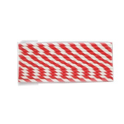 Generic Red stripe Paper Drinking Straws for Party Table Decoration Festival Christmas, Pack of 25