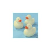 Fun Express Mini Glow in the Dark Rubber Duckies (24