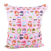 Pink Owl Wet Bags Waterproof Nappy Bag Multi-function Nappy Bag - 14*28cm
