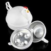Souked Microwave 4 Eggs Boiler Cooker Poacher Boiled Chicken Shaped