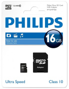 Philips 16 GB Micro SDHC Card with Adapter