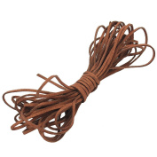 1 Roll Durable Brown Suede Leather Cord String 2mm for Bracelet Necklace DIY