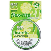 BeadSmith Flex-Rite Beading Wire, 21 Strand .46cm Thick, 30m Spool, Clear