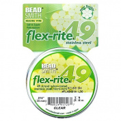 BeadSmith Flex-Rite Beading Wire, 49 Strand .36cm Thick, 9.1m Spool, Clear
