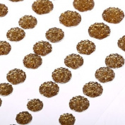 CB70G - 50 Self Adhesive Gold Crystal Diamante Rhinestone Stick on Moon Rock Gems