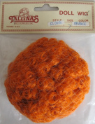 TALLINA'S Craft DOLL HAIR WIG Style #802 CLOWN Fits SIZE 18cm Colour ORANGE