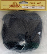 TALLINA'S Craft DOLL HAIR WIG Style 104 Fits SIZE 25cm Colour BLACK