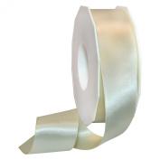 Morex Ribbon 08838/50-810 Double Face Satin Polyester Ribbon, 3.8cm by 50-Yard, Ivory