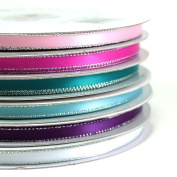 Satin Ribbons Silver Edge 0.6cm (Spool of 50 Yards)