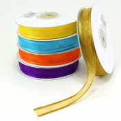 Organza Satin Edge Ribbons 1.6cm (Spool of 25 Yards)