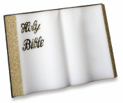 FloraCraft Styrofoam Bible Gold Edges and Letters, 18 by 30cm by 3.8cm , Black/White