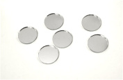 Round Craft Glass Mirror Mosaic Tiles Deco Art 1.9cm 24pcs/pkg