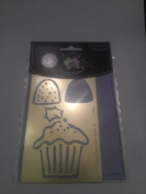 Lasting Impressions Frosted Cupcake Brass embossing Template