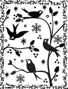 Ultimate Crafts Embossing Folder, 10cm by 15cm , Framed Birds and Branches