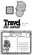 Ultimate Crafts 2-in-1 Embossing Folder, Travel The World