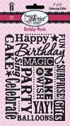 HOTP Paper Artist Birthday Words Embossing Folder HOTP6016