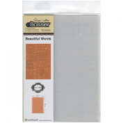 Craftwell USA Teresa Collins Embossing Folder, Beautiful Words