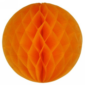 "SUNBEAUTY 6""(15cm) Pack of 5 Orange Colour Tissue Paper Honeycomb Balls Wedding Decoration Birthday Baby Shower Bridal Shower"