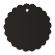 LWR Crafts 100 Hang Tags Scalloped Round with Jute Twines 30m