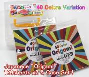 Japanese Origami Paper / 15cm square / Total 40 Variation Colours - 240 Sheets & Japanese Origami Folding Paper Case Box Value Set (With Our Shop Original Product Description)