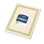 Parchment Paper Certificates, 8-1/2 x 11, Natural Diplomat Border, 50/Pack