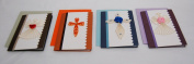 Set of 4 - Premium Quality Assorted Design Small Paper Quilling Cards w/envelop - For All Occassions