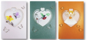 Set of 3 - Premium Quality Assorted Heart Shape Paper Quilling Cards w/envelop - For All Occassions