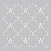 Plastic Stencil 20cm x 20cm -Diamond Dot