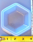 Hexagon paperweight reusable plastic mould 574