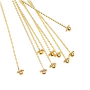 Beadalon Gold Plated Coil Dome Head Pins - 21 Gauge - 5.1cm