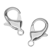 Bright Silver Plated Lobster Clasps EXTRA Extra Large 27mm