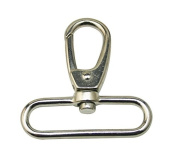Generic Silvery 5.1cm Inside Diameter Oval Ring Lobster Clasp Claw Swivel Lobster Snap Clasp Hook Pack of 10