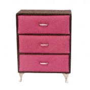 Small Dresser Jewellery Box Pink Brown