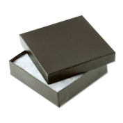 Black Swirl Cotton Filled Jewellery Box #33