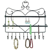 Ushoppingcart Women favourites Classic Heart Shape Wall Mounts Wall-mounted Jewellery & Accessory Storage Rack Organiser Shelf Holder,Jewerly Display Stand for Earrings/Necklaces/Bracelets
