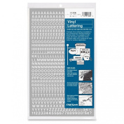 Chartpak 60cm Self Adhesive Vinyl Letters and Numbers, White