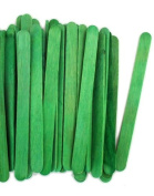 1000 Green Standard Size Wood Craft Sticks Coloured Popsicle Stick