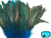 Rooster Tails, TURQUOISE Half Bronze Coque Tail Strung feathers - 6.4cm
