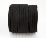 BLACK 3mm x 1.5mm Faux Suede Cord Lace Bracelet Craft Jewellery Making, 5yds Mini Spool