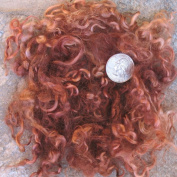 Living Dreams Hand Dyed Mohair Wool Fibre Fleece Locks for Knitting, Felting, Spinning, Paper Craft, Doll Hair and Embellishments. 30ml, Brown