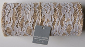 Burlap and Lace Ribbon Roll - 14cm x 2.4m